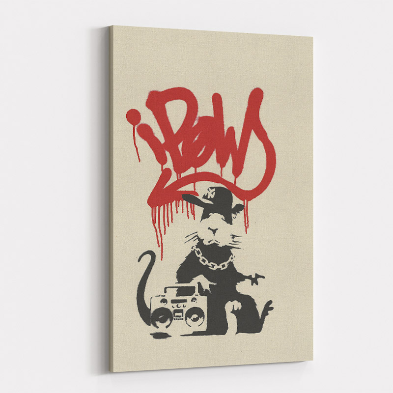 Gangsta Rat Banksy Art Print