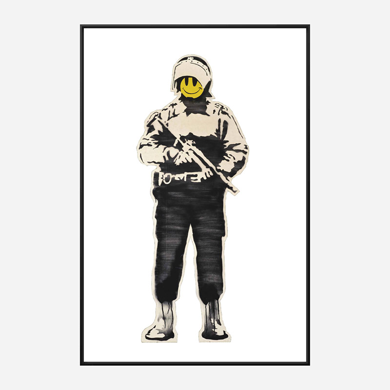 Smiling Copper Banksy Art Print