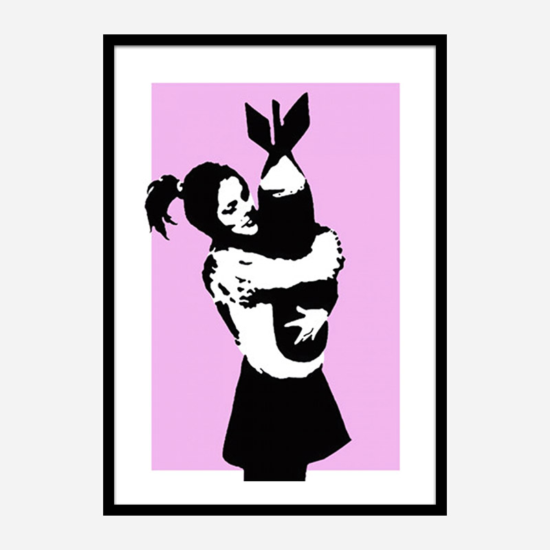 Bomb Hugger Pink Banksy Art Print