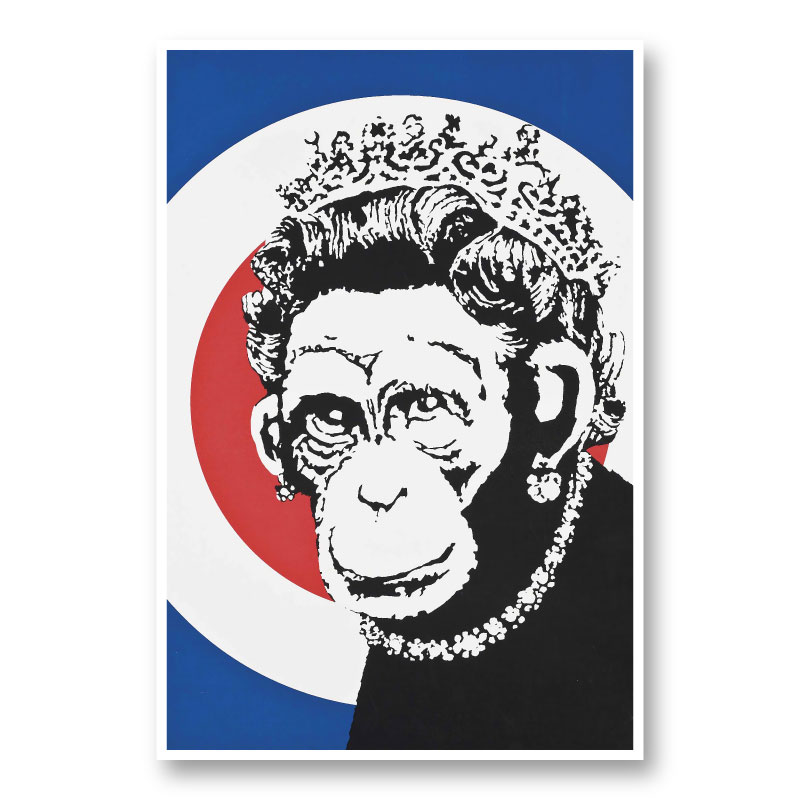 Monkey Queen Banksy Art Print
