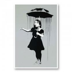 Nola Grey Rain Banksy Art Print