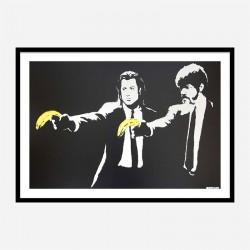 Pulp Fiction Banksy Wall Art