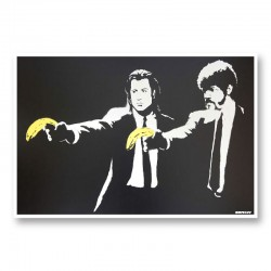 Pulp Fiction Banksy Wall Art