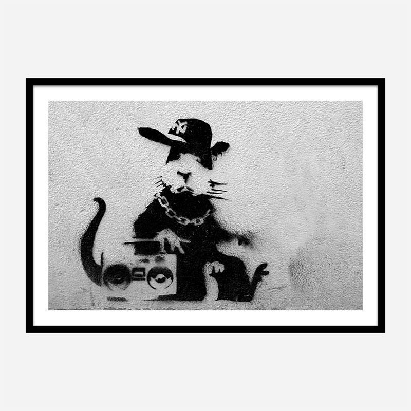Rapper Rat Banksy Wall Art
