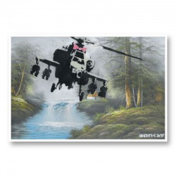 Corrupted Oil Banksy Wall Art