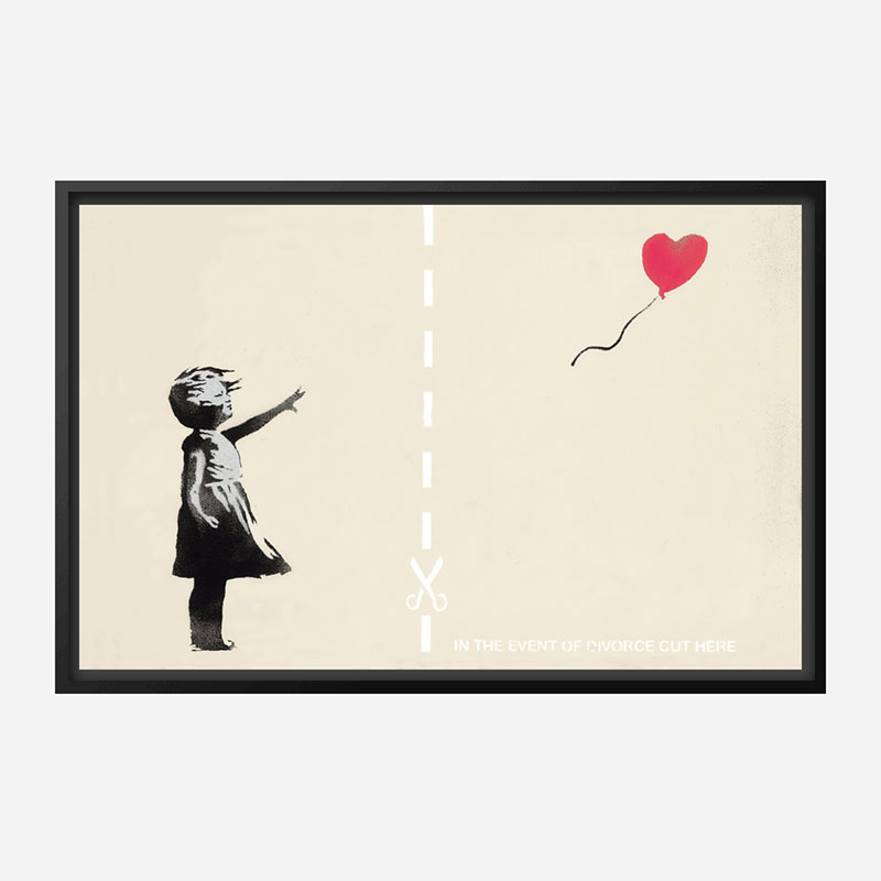 In The Event Of A Divorce Cut Here Banksy Wall Art