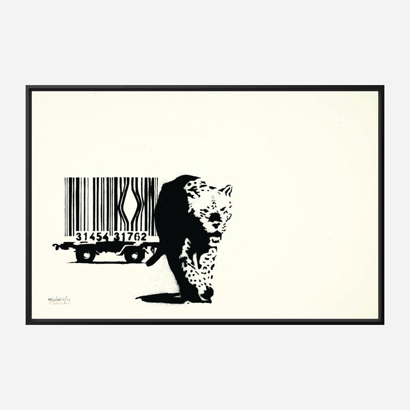 Barcode Leopard Banksy Wall Art