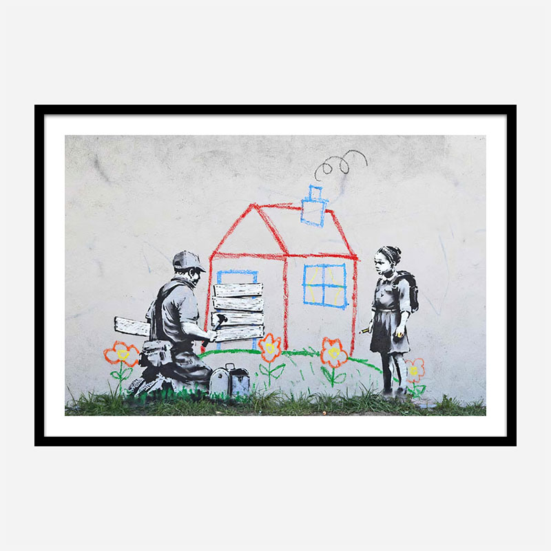 Crayon for Closure Banksy Wall Art