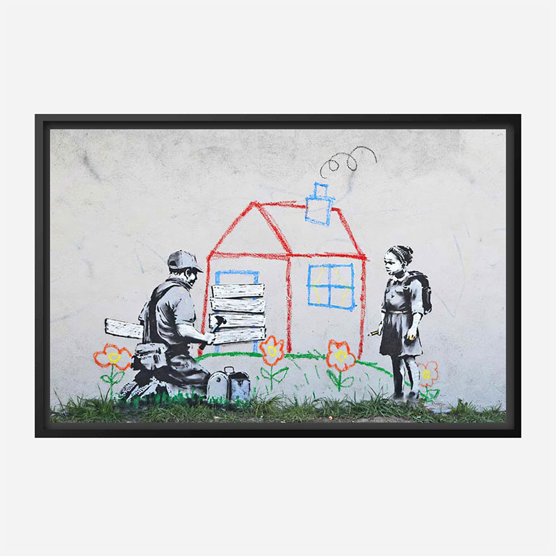 Crayon for Closure Banksy Wall Art