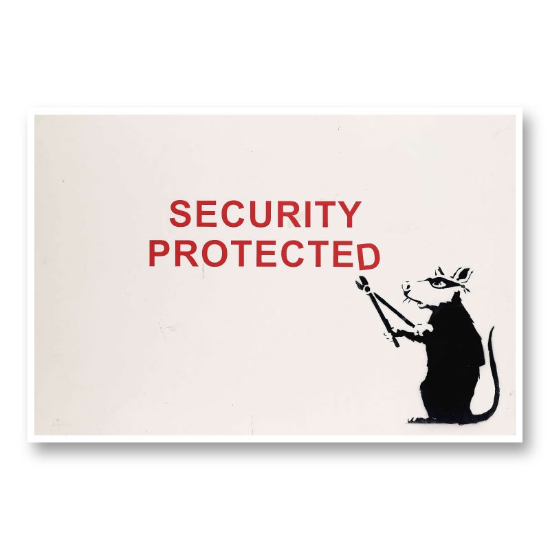 Security Protected Banksy Wall Art
