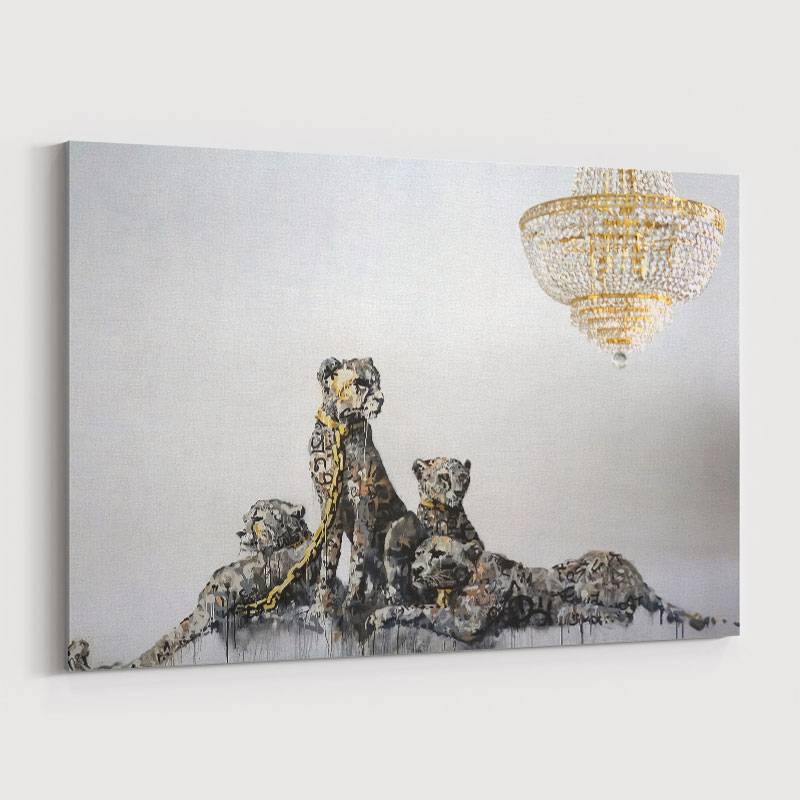 Banksy Leopards Wall Art