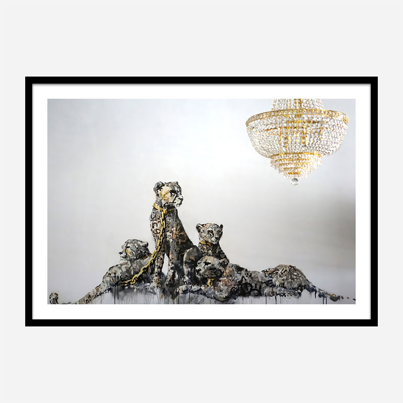 Banksy Leopards Wall Art