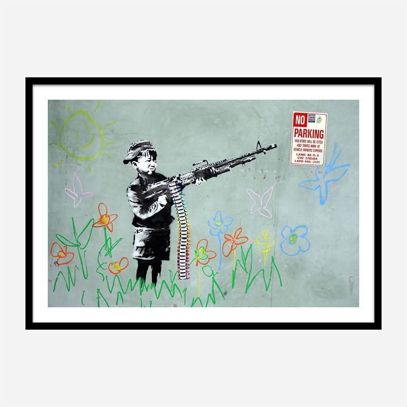 War Child Crayola Kid Banksy Wall Art Print