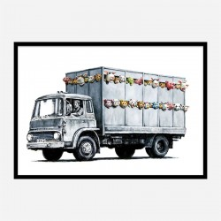 Meat Truck Banksy Wall Art Print