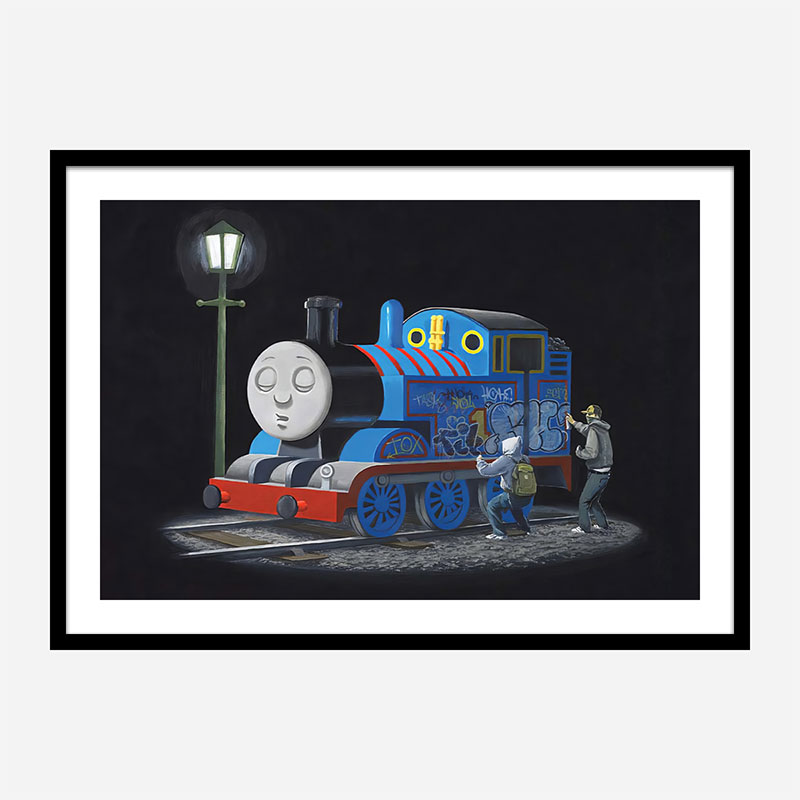 Thomas the Tank Engine Makeover by Banksy Wall Art Print