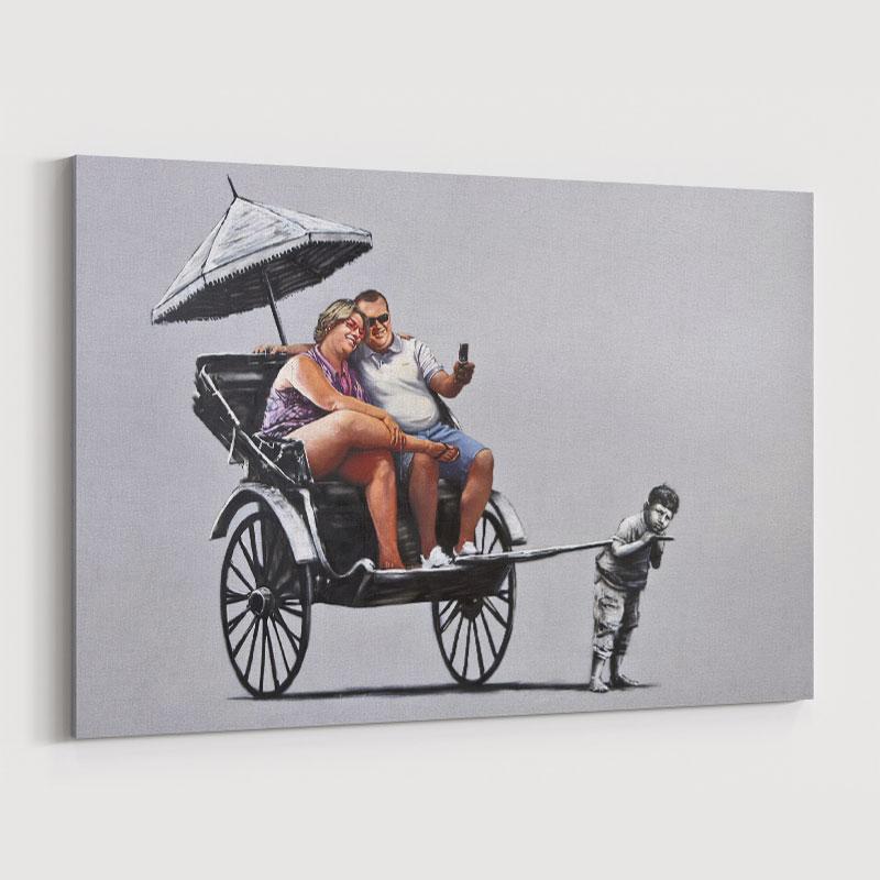Rickshaw Banksy Wall Art Print
