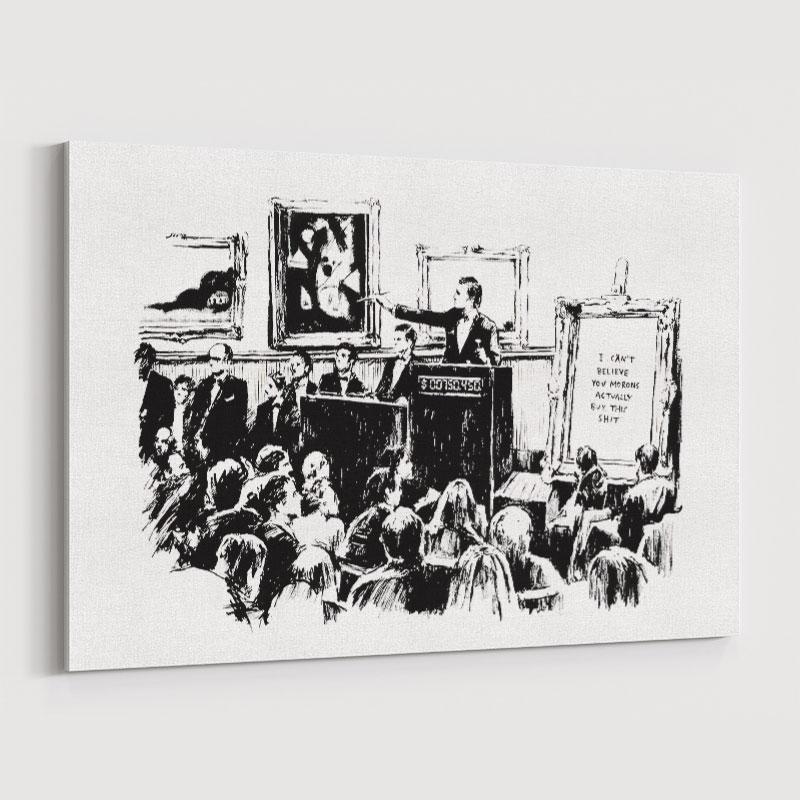 Morons By Banksy Wall Art Print