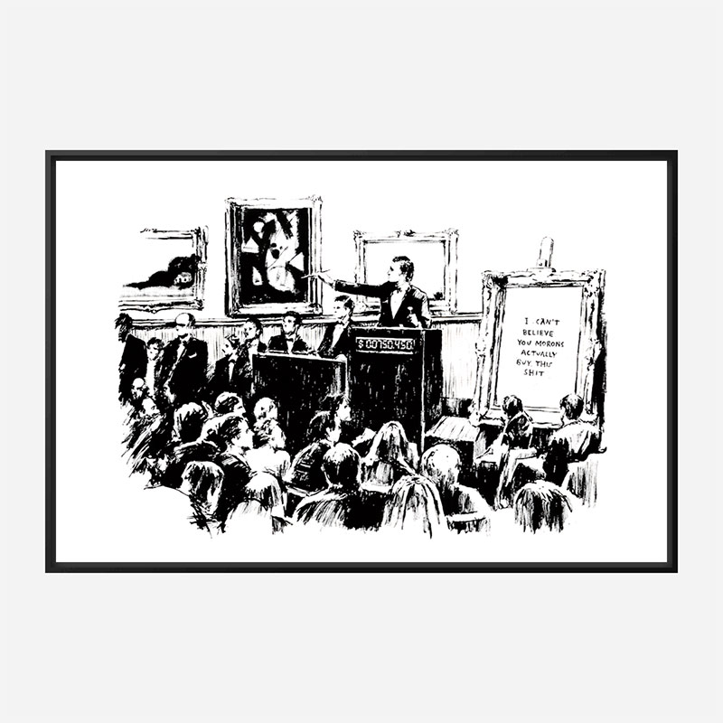 Morons By Banksy Wall Art Print