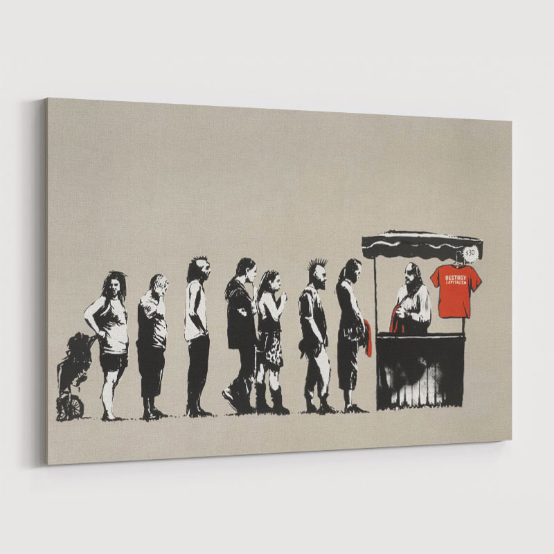 Festival By Banksy Wall Art Print