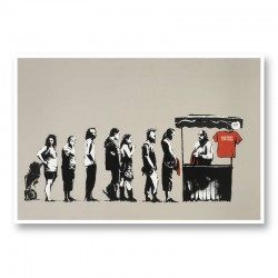 Festival By Banksy Wall Art Print