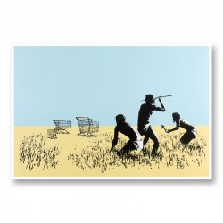 Trolley's By Banksy Wall Art Print