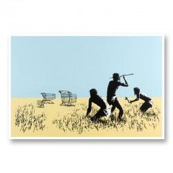 Trolley's By Banksy Wall Art Print