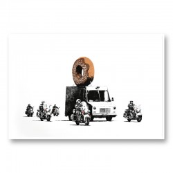 Donut Chocolate By Banksy Wall Art Print