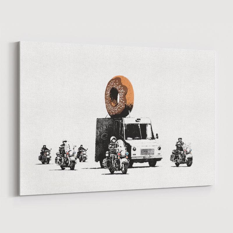 Donut Chocolate By Banksy Wall Art Print