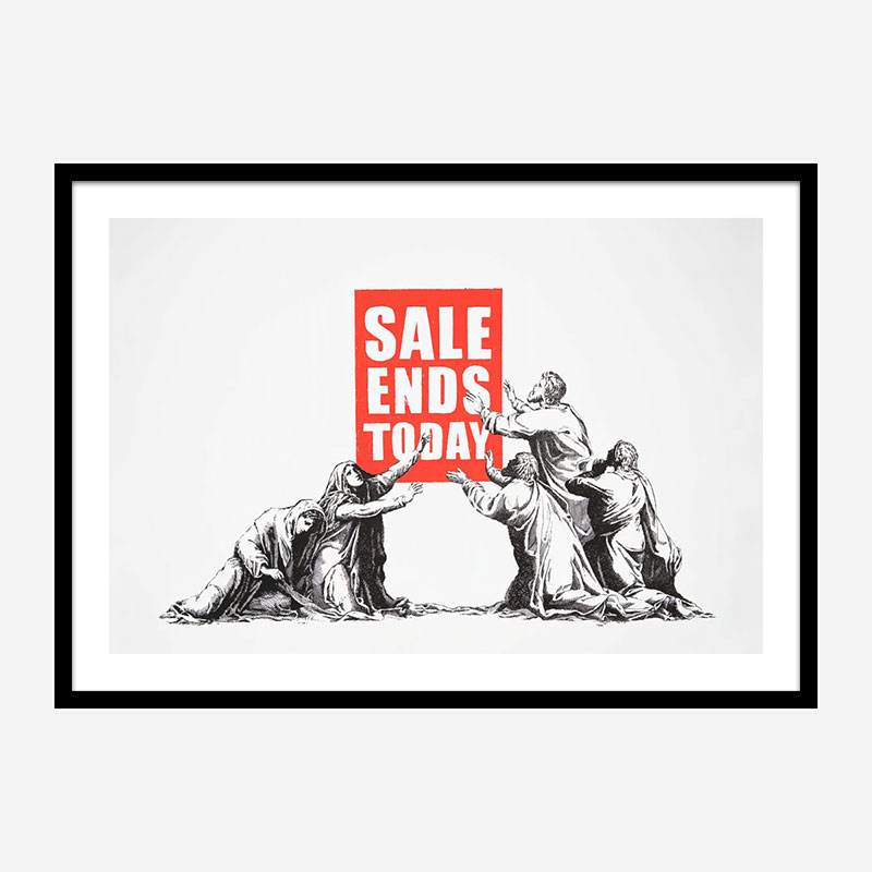 Sale Ends Today Banksy Wall Art Print