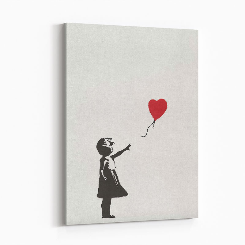 Banksy Girl with Balloon Art Print