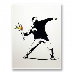 Love Is In The Air Banksy Art Print