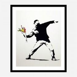 Love Is In The Air Banksy Art Print