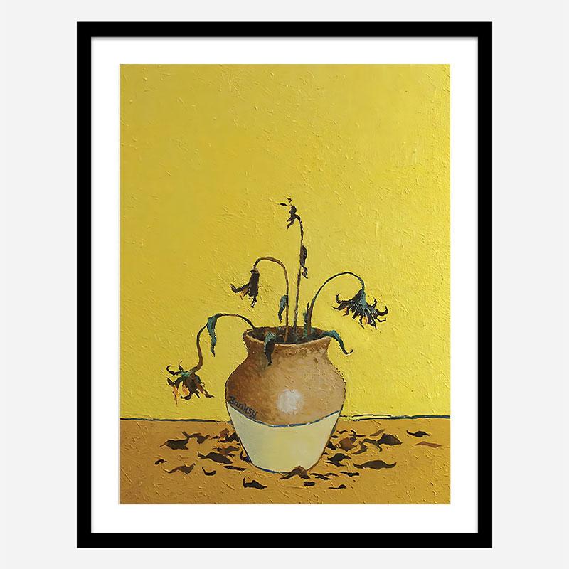 Sunflowers by Banksy Art Print