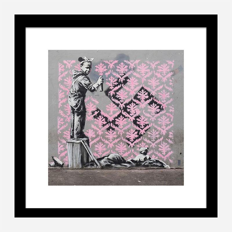 Porte de la Chapelle Mural by Banksy Art Print