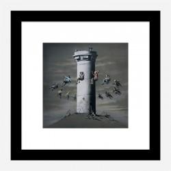 Walled Off Hotel Watchtower Swing by Banksy Art Print