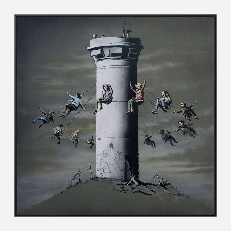 Walled Off Hotel Watchtower Swing by Banksy Art Print