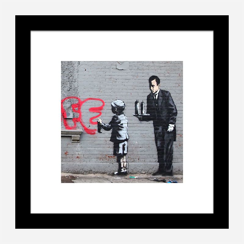 Ghetto 4 Life by Banksy Art Print
