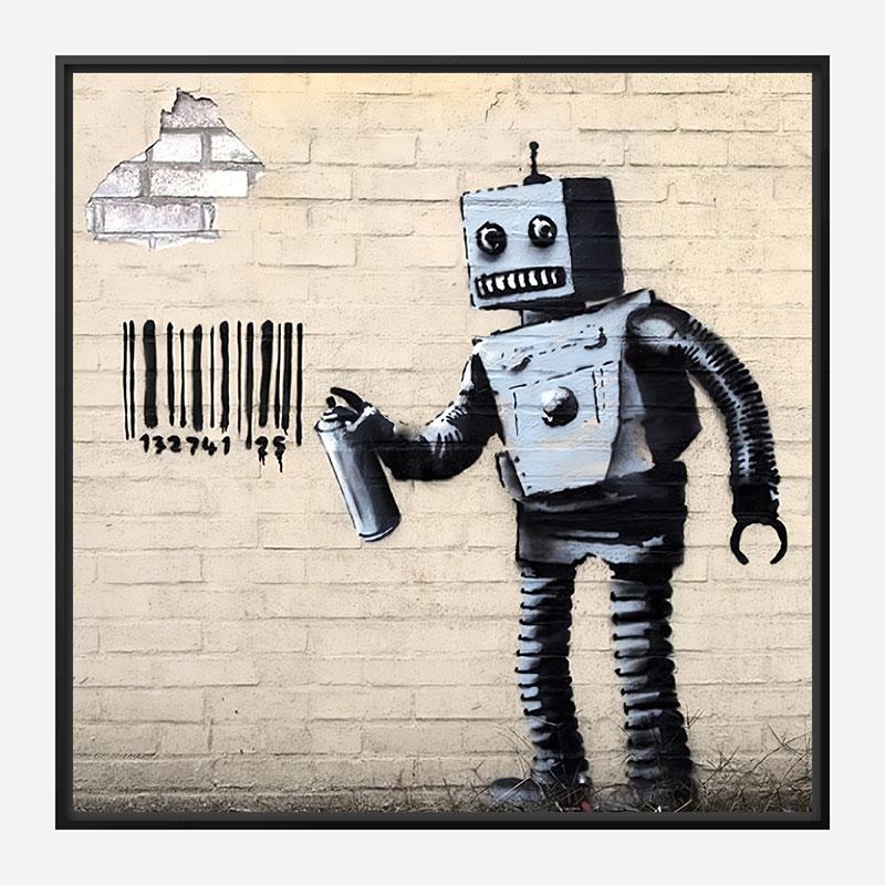 Tagging Robot by Banksy Art Print