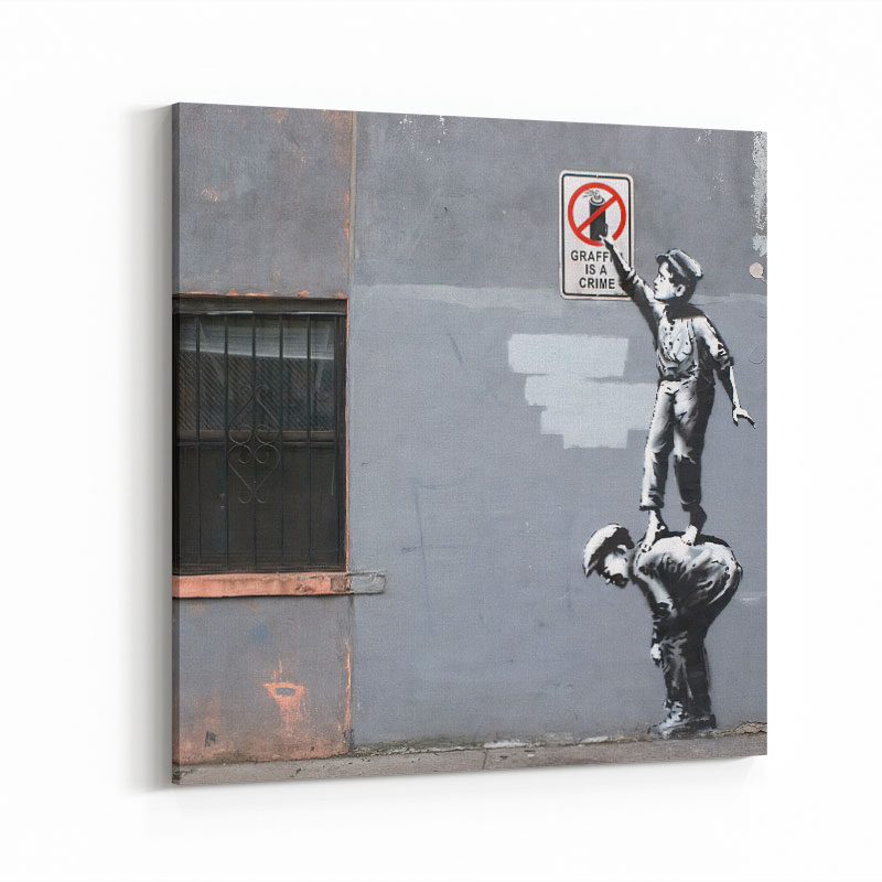 Banksy Graffiti Is A Crime Art Print