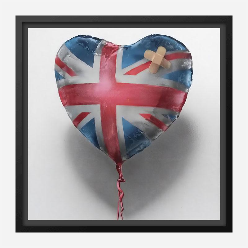 Banksy Union Jack Balloon Art Print