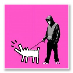 Choose Your Weapon Pink by Banksy Art Print
