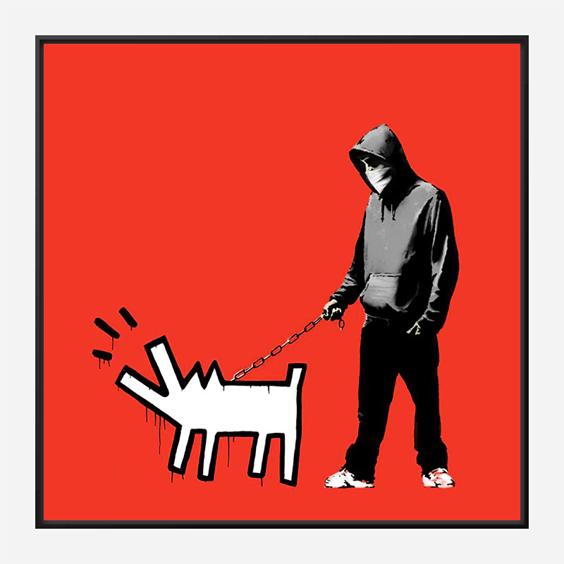 Choose Your Weapon Red by Banksy Art Print