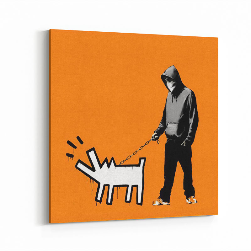 Choose Your Weapon Orange by Banksy Art Print