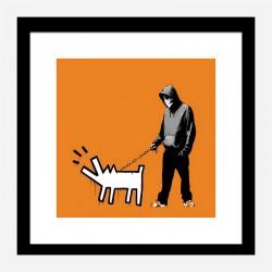 Choose Your Weapon Orange by Banksy Art Print
