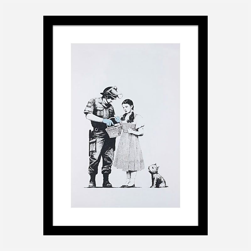 Banksy Stop and Search Art Print