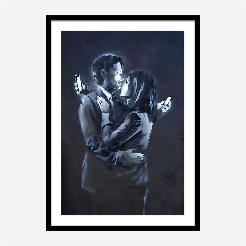 Banksy Mobile Lovers Art Print