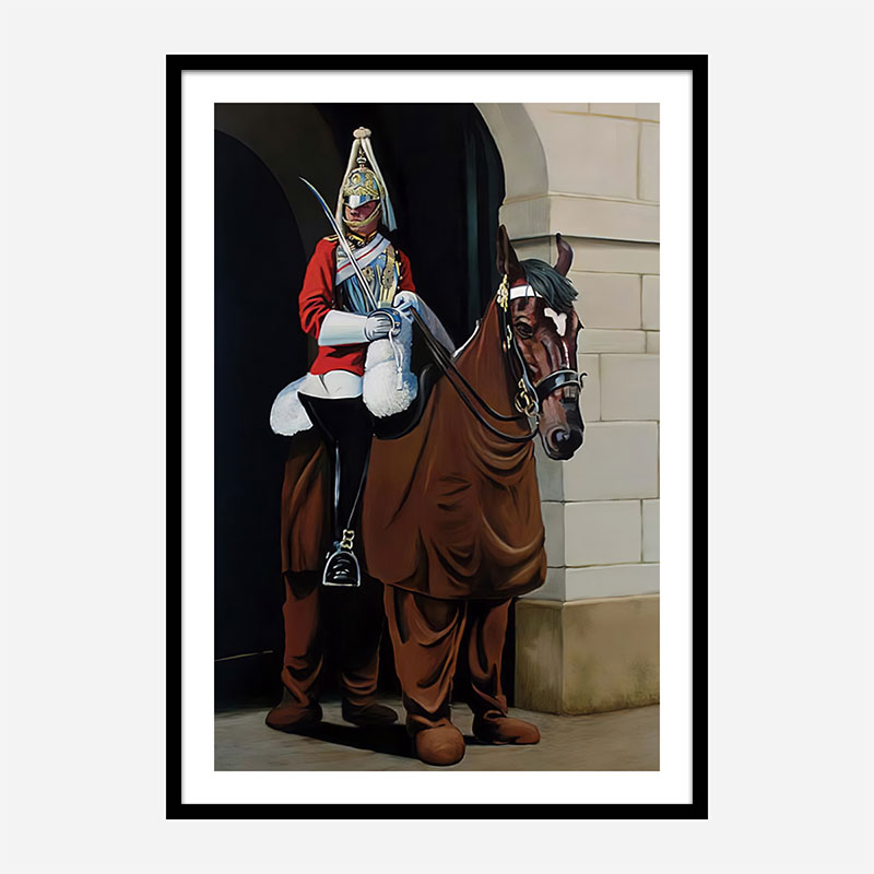 Horse Guard By Banksy Art Print