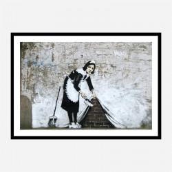Sweep It Under The Carpet Banksy Wall Art