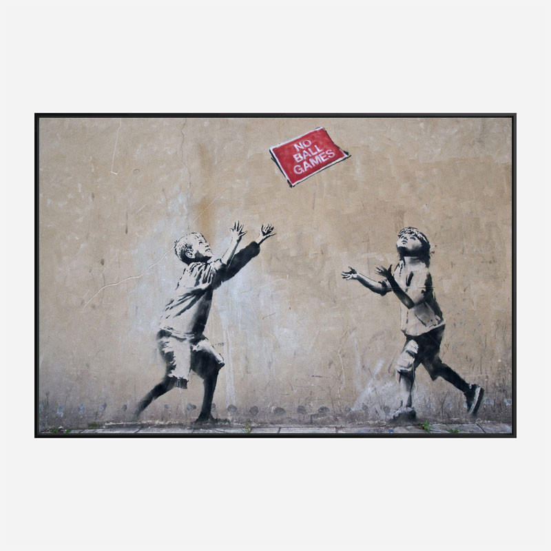 No Ball Games Banksy Wall Art