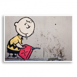 Charlie Brown Banksy Wall Art